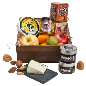 Colorado Honey and Cheese and fruit basket
