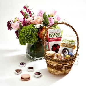 Mothers day Flowers and Chocolate basket