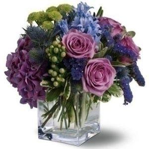 Blue Flower Cube