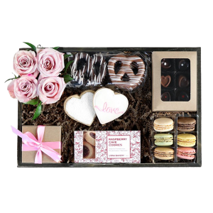 Colorado flowers and sweets gift crate
