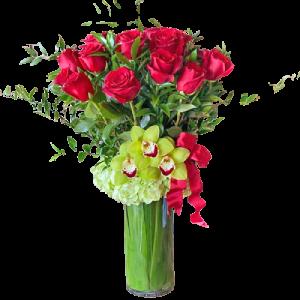 Deluxe Red Rose Arrangement for Denver Delivery