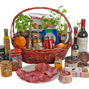 Gourmet gift basket with Herbs